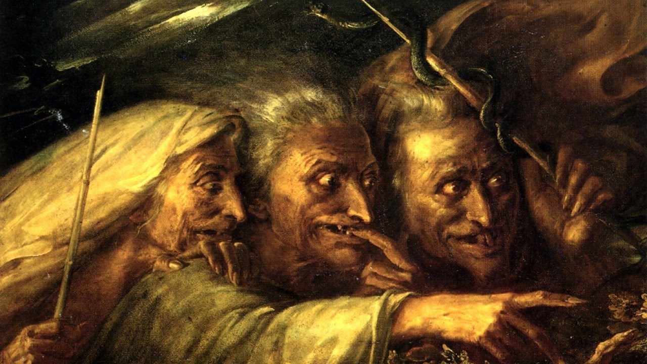 The Three Witches From Macbeth - Alexandre-Marie Colin