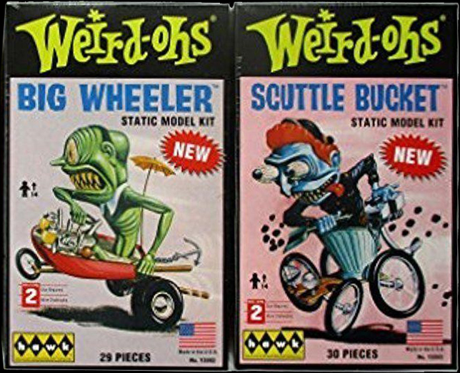 Hawk Weird-Oh's Big Wheeler and Scuttle Bucket models