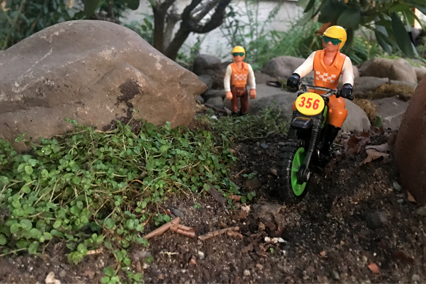 Dean and Vince of the Fisher-Price Adventure People Cycle Racing Team set