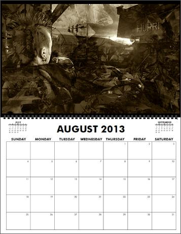 The Coreyshead 2013 Calendar of Distortions - August