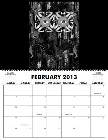 The Coreyshead 2013 Calendar of Distortions - February