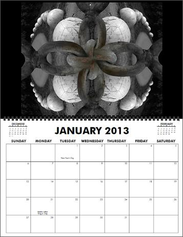 The Coreyshead 2013 Calendar of Distortions - January