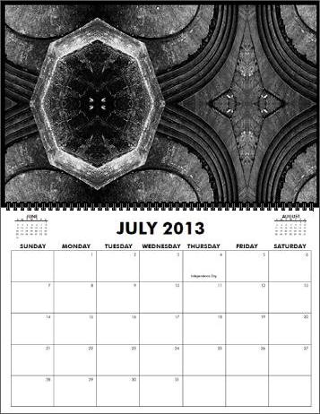 The Coreyshead 2013 Calendar of Distortions - July