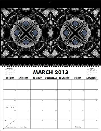 The Coreyshead 2013 Calendar of Distortions - March
