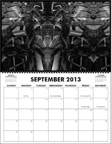 The Coreyshead 2013 Calendar of Distortions - September