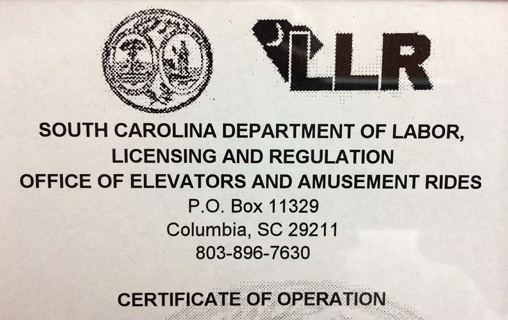 South Carolina Elevator Certificate - Jaywalking In Charleston