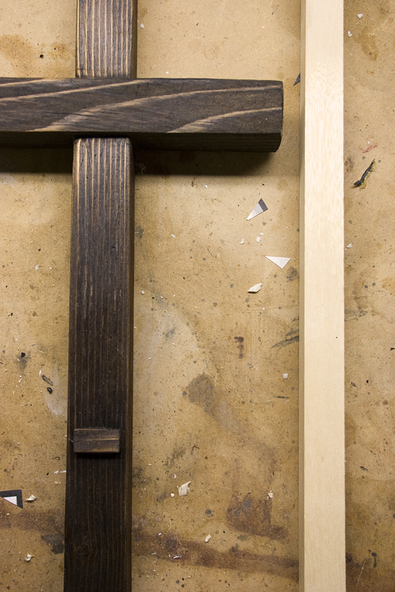 Cross Purposes - thinner wood for crucifix