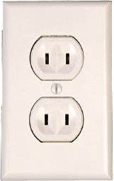 non-polarized, un-grounded outlet