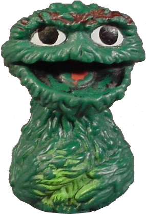 Oscar the Grouch finger puppet, 1970's
