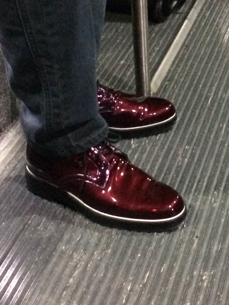 Red Shoes on the Shuttle