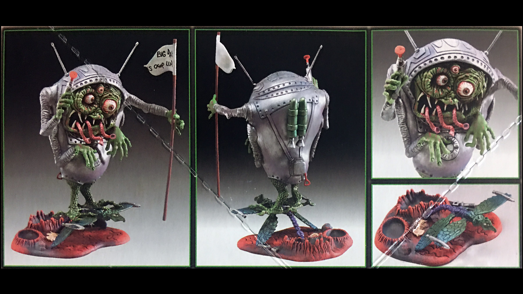 finished Scuz-Fink model sample from the box