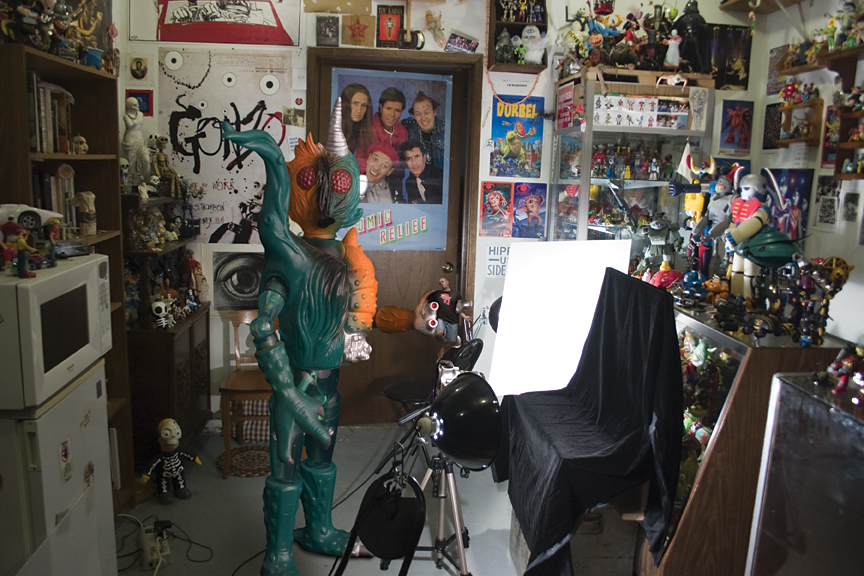 "Self Portrait in Studio - Takara King Walder Jr. Plantman - 9"" doll"