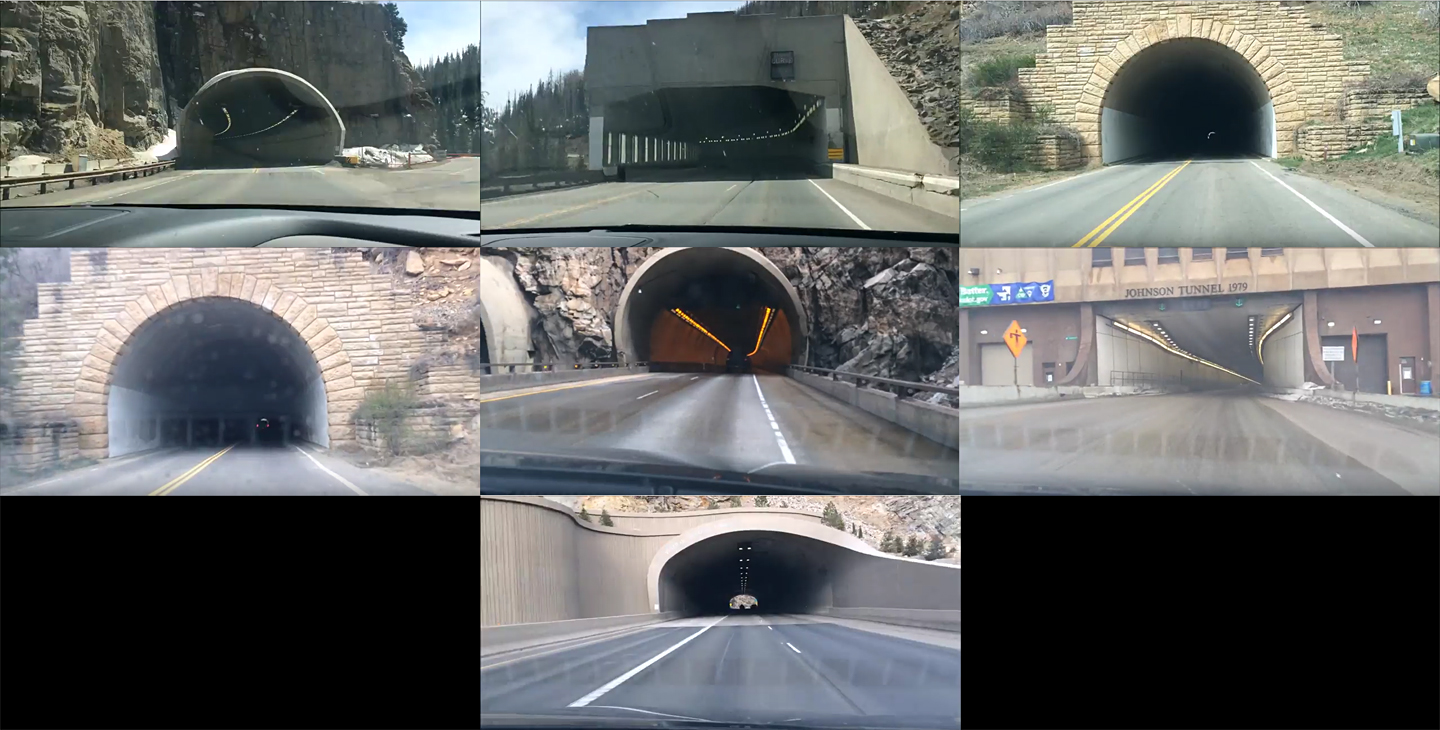 Seven Colorado Tunnels in Two and a Half Minutes