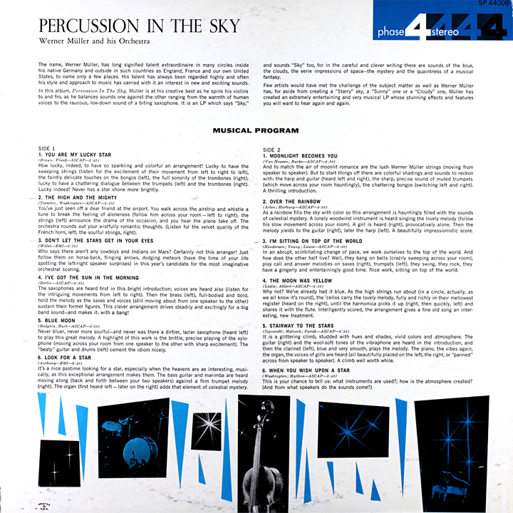 Werner Müller and His Orchestra - Percussion In The Sky